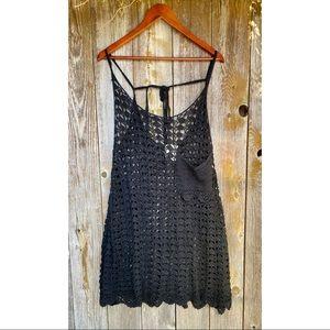 ONE TEASPOON canyon crochet beach knit dress black